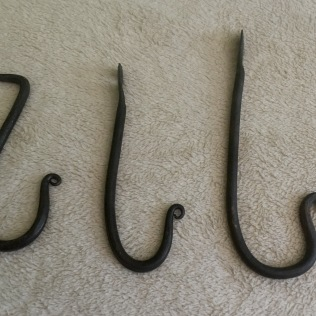 A set of hooks